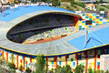 Panoramic view of a football stadium at Portugal Royalty Free Stock Image