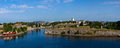 Panoramic view on a fortress of suomenlinn in summer day helsinki finland Royalty Free Stock Images