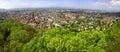 Panoramic view of Freiburg im Breisgau city, Germany Royalty Free Stock Photo