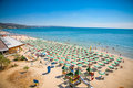Panoramic view of Golden Sands beach, Bulgaria. Royalty Free Stock Photography