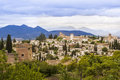 Panoramic view of Granada, Andalusia, Spain Stock Image