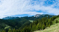 Panoramic view hasmas mountains harghita romania springtime season Royalty Free Stock Images