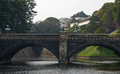Panoramic view of imperial palace in tokyo japan Stock Images