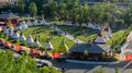 Panoramic view of the Indian Village at the Calgary Stampede Royalty Free Stock Photo