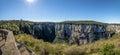 Panoramic view of Itaimbezinho Canyon at Aparados da Serra National Park - Cambara do Sul, Rio Grande do Sul, Brazil Royalty Free Stock Photo