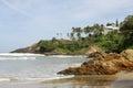 Panoramic view kovalam beaches india Royalty Free Stock Photo