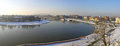 Panoramic view of krakow city and vistula river poland Stock Photography