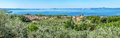 Panoramic view of lake bolsena province of viterbo lazio italy lago di central Royalty Free Stock Photos