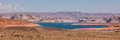 Panoramic view of Lake powell, Utah Royalty Free Stock Photo