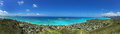 Panoramic View of Lanikai Beach, Oahu, Hawaii Royalty Free Stock Photo