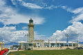 Panoramic view of Lighthouse in Patras, Peloponnese, Greece Royalty Free Stock Photo