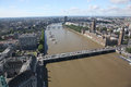 Panoramic view London with Big Ben and the House of Parliament, Stock Photos