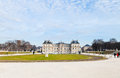 Panoramic view luxembourg palace gardens paris Royalty Free Stock Images