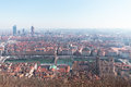 Panoramic view Lyon France Royalty Free Stock Photo