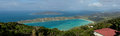 Panoramic view of Magens Bay Stock Photo