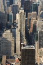 Panoramic view of Manhattan as seen from the Empire State Buildi Royalty Free Stock Photo
