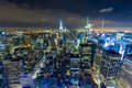 Panoramic view of Manhattan in the evening Royalty Free Stock Photo