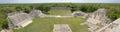 Panoramic view of the Mayan pyramids Edzna. Yucatan. Royalty Free Stock Photo