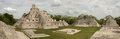 Panoramic view of the Mayan pyramids Edzna. Yucatan, Campeche. Royalty Free Stock Photo