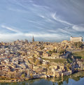Panoramic view of medieval city of Toledo Royalty Free Stock Photo