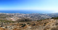 Panoramic view of mediterranean coastline benalmadena spain image assembled from few frames Stock Image