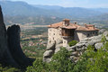 Panoramic view of Meteora, Greece Royalty Free Stock Photos