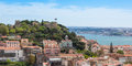 Panoramic view of miradouro da graca viewpoint in lisbon portu portugal Royalty Free Stock Photo