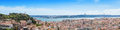 Panoramic view of miradouro da graca viewpoint in lisbon portu portugal Royalty Free Stock Photography