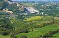 Panoramic view of montebello emilia romagna italy from castle Stock Images