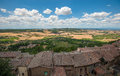 Panoramic view from montepulciano town tuscany italy Royalty Free Stock Images