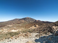 Panoramic view of a mountain teide Stock Image