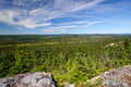 Panoramic View from a Mountain Top Royalty Free Stock Image