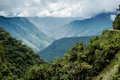 Panoramic view of the mountainous landscape of North Yongas Royalty Free Stock Photo