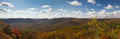 Panoramic View of New York Mountains in Fall Royalty Free Stock Photo