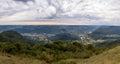 Panoramic View at Ninho das Aguias Eagle`s Nest in Nova Petropolis, Rio Grande do Sul, Brazil Royalty Free Stock Photo