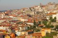 Panoramic view of the old town porto portugal red rooftops a Royalty Free Stock Photos