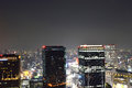Panoramic view of osaka city at night japan Royalty Free Stock Photography