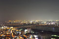 Panoramic view of osaka city at night japan Royalty Free Stock Photos