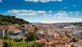 Sao Jorge Castle and Baixa Panoramic Royalty Free Stock Photo