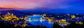 Panoramic view over the budapest at sunset Royalty Free Stock Photo