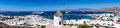 Panoramic view over Mykonos town, Greece Royalty Free Stock Photo