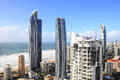 Panoramic view over Surfers Paradise Stock Photography