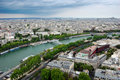Panoramic view of Paris from Eiffel tower Stock Image
