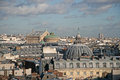 Panoramic view of Paris from the ferris wheel. The Opera Garnier is on the left in the distance and Church of the Assumption on Royalty Free Stock Photo
