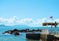 Panoramic view of Piombino, Livorno, rocks and sea, Italy Royalty Free Stock Photo