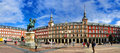 Panorama of Plaza Mayor, Madrid Royalty Free Stock Photo