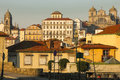 Panoramic view porto portugal a of the old town Royalty Free Stock Images
