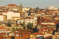 Panoramic view porto portugal red rooftops a of the old town Stock Photography