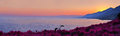 Panoramic view of Recco with sunset Royalty Free Stock Photo