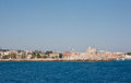 Panoramic view of Rhodes town Royalty Free Stock Photo